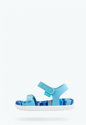 Native blue Charley Print Sandals B321AKS3EDBA41GS_1