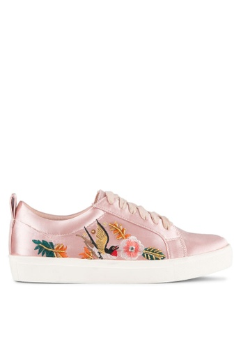 ZALORA pink Embroidered & Sequin Sneakers B0AB3ZZDAC672FGS_1