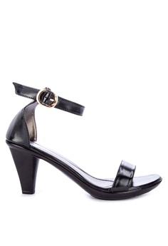 99384548ebdc Huxley black Yaneko Ankle Strap Heeled Sandals A1457SH61BBB8CGS 1