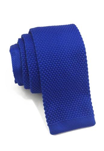 Splice Cufflinks Interlace Series Bright Blue Knitted Tie SP744AC12LPJSG_1