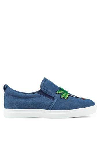 Something Borrowed 藍色 休閒刺繡拼貼懶人鞋 8E341SH9E249E6GS_1
