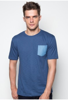 S/S R/N M Tee with Chest Pocket
