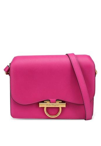 Ferragamo pink Joanne Classic Shoulder Bag (zt) 11E8AAC82243CBGS_1