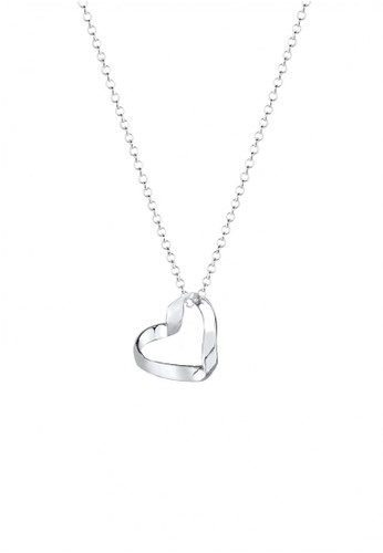 ELLI GERMANY Elli Germany 925 Sterling Silver Kalung Hati 3D Silver