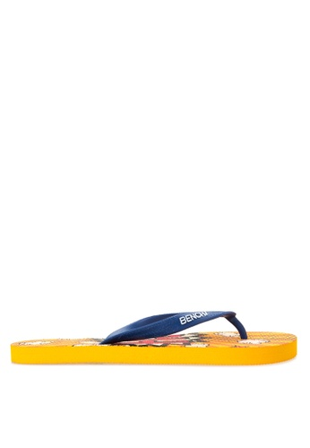 BENCH orange Printed Rubber Slippers BE550SH19LTCPH_1