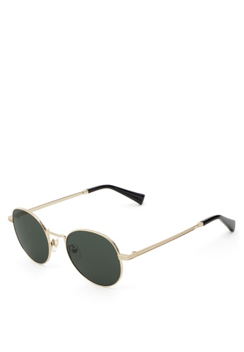 Hawkers gold Gold Green Bottle MOMA Sunglasses 64913GLBFC6BFBGS_1