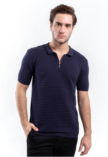 MANLY navy MANLY Baju Polo Slim Fit Larkham Navy Blue D0BC6AAE6DB8CBGS_1