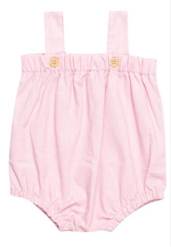 RAISING LITTLE pink Apricot Romper D64AAKA9962764GS_1