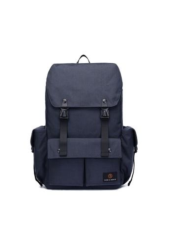 The Dude navy Predator Backpack TH373AC53CHAHK_1
