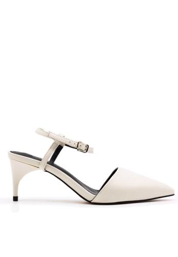 Twenty Eight Shoes 白色 中跟尖頭踝帶鞋 VS1781 TW446SH74QEJHK_1