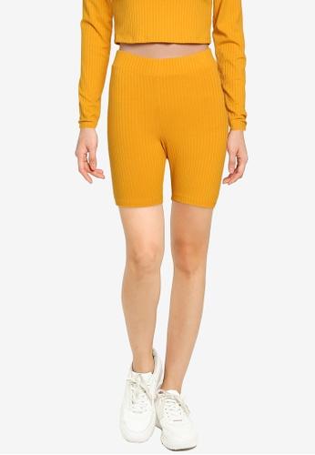 Noisy May yellow Livia Biker Shorts EC557AAD98F60DGS_1