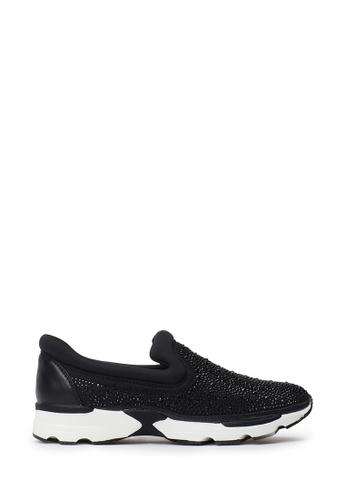 PAZZION black Glitter Sneakers D7CB1SH66F815AGS_1