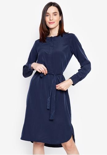 Susto The Label navy Tinu Midi Dress 865FFAA2F4F228GS_1