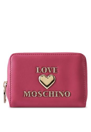 Love Moschino pink Love Logo Short Zip Around Purse C2F52ACDCEB04BGS_1