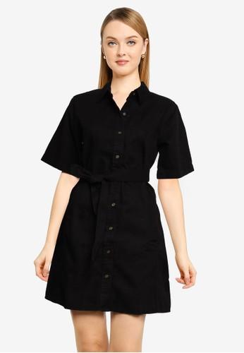 Banana Republic black Utility Shirt Dress CD329AA6890E19GS_1