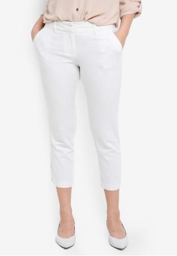 Dorothy Perkins white Petite White Linen Ankle Grazer 54642AA1BBC584GS_1