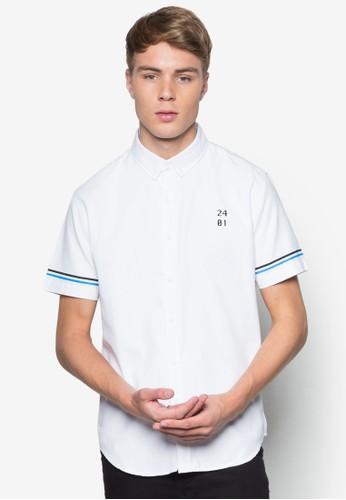 素色牛津短袖襯esprit 寢具衫, 服飾, 襯衫