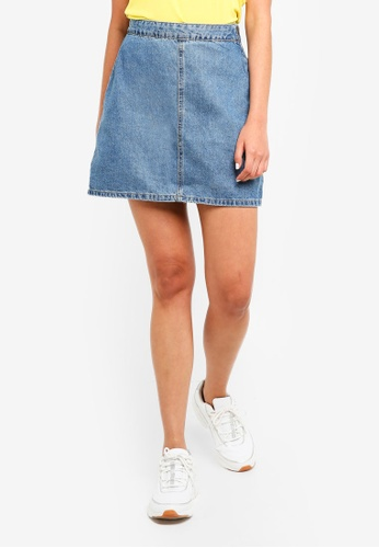 Cotton On blue Denim Aline Skirt C5146AA9202884GS_1