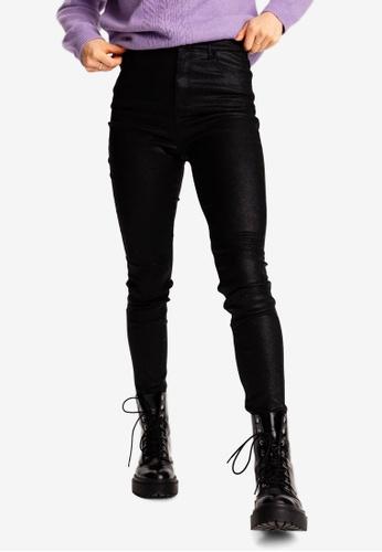 PIMKIE black Shimmery Skinny Pants 29E54AAF3B75D4GS_1