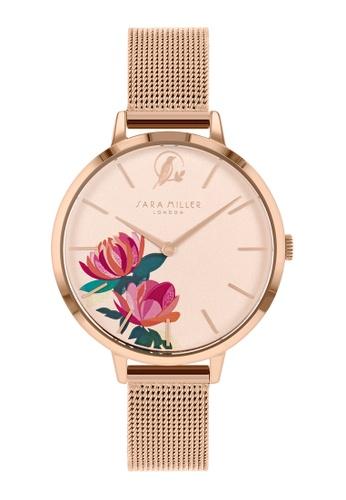 Sara Miller gold Sara Miller London - Peony Watch 34mm - Rosegold Mesh  (SA4034) 054F7ACE0CD185GS_1