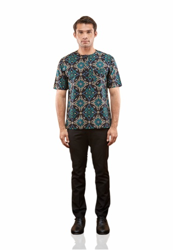 TUSCA black Adiwangsa Batik Shirt 05C1FAAD6576B4GS_1