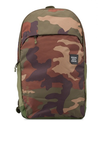 Herschel green and multi Mammoth Large Backpack D595DACC930B66GS_1