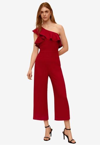 Mango red Frilled Long Jumpsuit 18CB5AAF5D6578GS_1