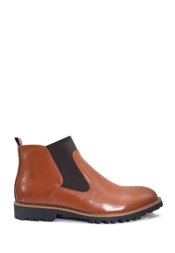 Twenty Eight Shoes 褐色 VANSA 經典商務橡筋靴  VSM-B80328 B1978SH43949A4GS_1