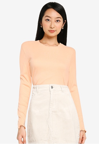 ONLY orange Onelly Long Sleeve Top 5A8A1AA7E667A5GS_1