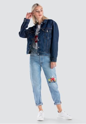 6ce15850aaf8 Levi's blue Womens Levi's® x Peanuts L/S Ex-Boyfriend Trucker Jacket 29944