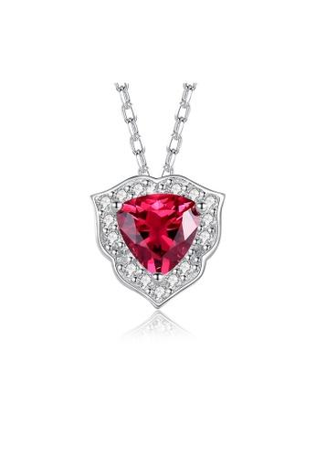 SUNRAIS silver Premium Silver S925 Silver Heart Necklace EB773AC3E8D729GS_1