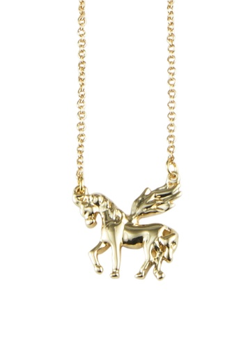 My Flash Trash gold Unicorn Necklace 3D2CAAC7071A01GS_1