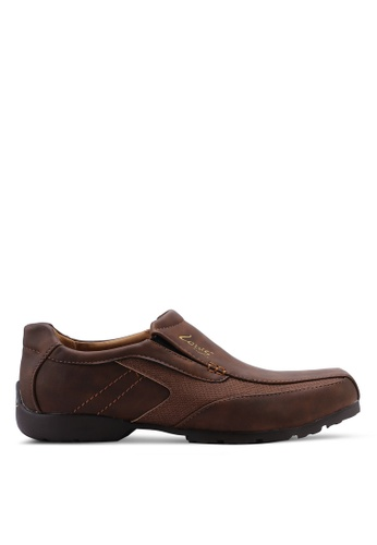 Louis Cuppers brown Faux Leather Slip Ons 0E087SHA4B7C1EGS_1