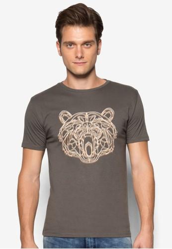 熊圖案T 恤, 服飾esprit 品牌, T恤