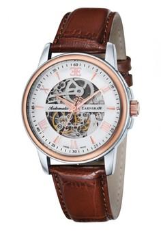 Thomas Earnshaw Beagle Es-0014-02 Men's Genuine Leather Strap Watch