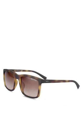 Armani Exchange brown Brown AX4067SF Sunglasses AR162GL0RNHZMY_1