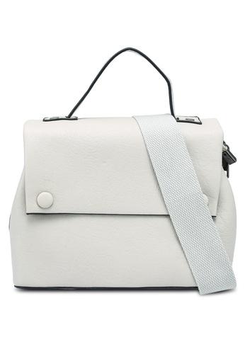 Bagstationz white Vintage Fashion Convertible Top Handle Bag D10DDAC0090CC2GS_1