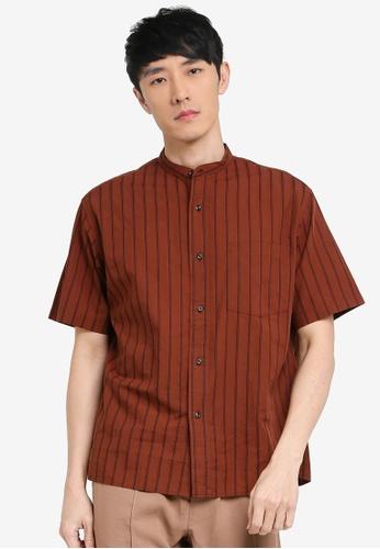 niko and ... brown Mandarin Shirt 8513BAA1F216D1GS_1