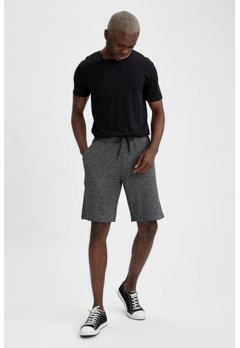 DeFacto grey Regular Fit Sweatshirt Bermuda Shorts B4AF2AA93A4853GS_1