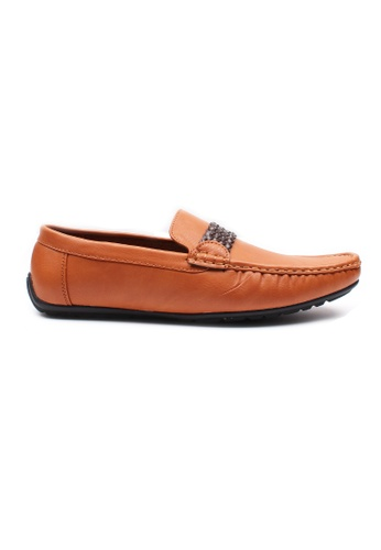 Moley brown Faux Leather Twine Strap Loafer MO329SH0HAVJSG_1