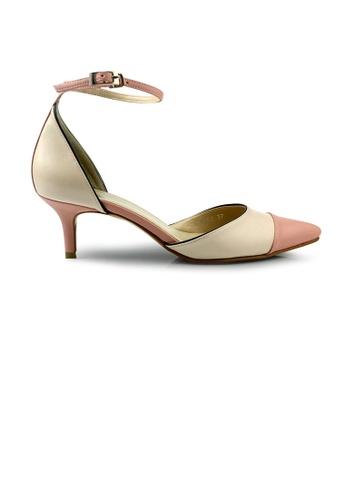 SHINE pink SHINE Point Toe Mary Jane Pumps AC600SHCF409D0GS_1