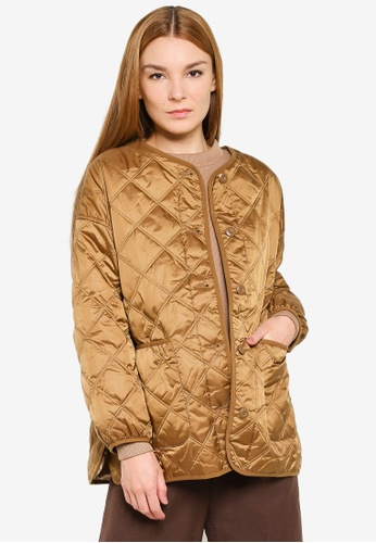 LOWRYS FARM gold Quilted Coat 6BC00AA0907419GS_1