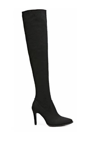 Twenty Eight Shoes 黑色 尖頭高跟長靴 S TW446SH70MLPHK_1