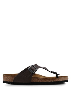 b42226080cef Birkenstock brown Gizeh Pull Up Sandals D5921SHE54FC69GS 1