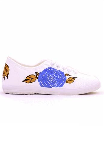 Crystal Korea Fashion 藍色 韓國制春夏新款平底輕便鞋 78BBCSHA98837CGS_1