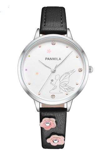 Panmila black Panmila Jam Tangan Wanita Kasual P0505M-DZ1WHWTali Kulit Black 7FA7AAC51FBDEFGS_1