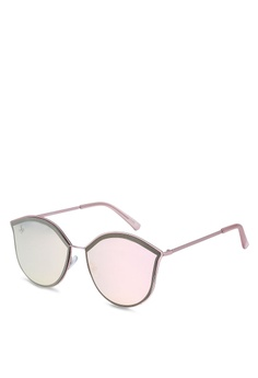 759c4334be Jeepers Peepers pink Pink Yellow Cat Eye Sunglasses 3C451GL139B227GS 1