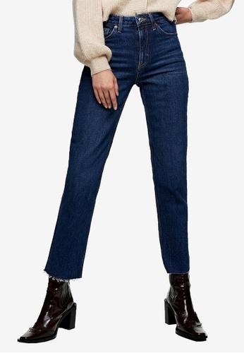 TOPSHOP blue Indigo Straight Jeans B1915AA70D561DGS_1
