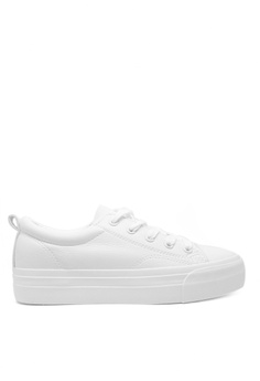 60f2ba0d3a67 Twenty Eight Shoes white Basic Platform Lace Up Sneakers 5131  55F78SH9A3A55AGS 1