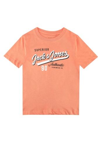 Jack & Jones pink and orange Logo Round Neck Short Sleeves Tee 551C4KAFC93DF6GS_1